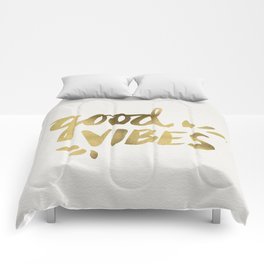 Good Vibes – Gold Ink Comforters