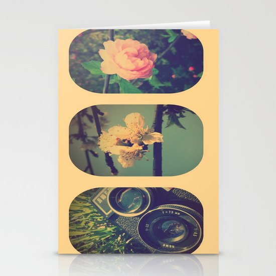 Spring collage Stationery Cards