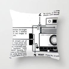 Polaroid Land Camera  Throw Pillow