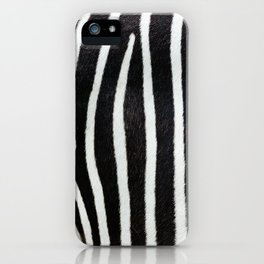 Zebra skin close-up view luxury abstract pattern iPhone Case
