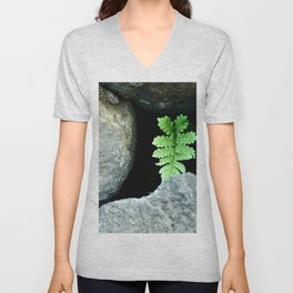 green tails out of hard rocks Unisex V-Neck