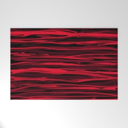 Juicy Red Apple Stripes Welcome Mat