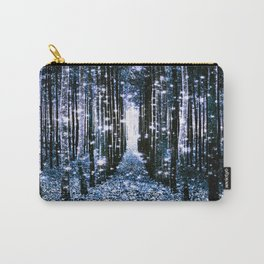 Magical Forest Dark Blue Elegance Carry-All Pouch