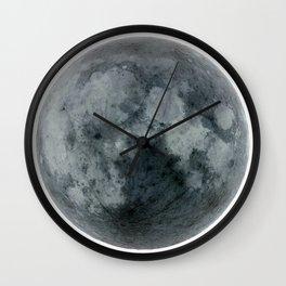 Black full moon Wall Clock