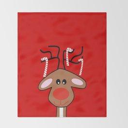 Christmas Reindeer Throw Blanket