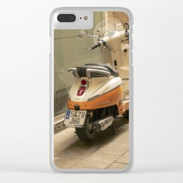Bikes and a Scooter on Old Road Clear iPhone Case