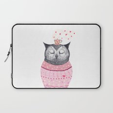 Owl lover of coffee Laptop Sleeve