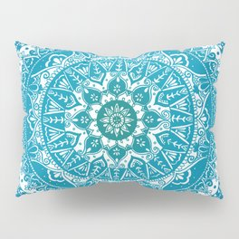 Aquamarine Mandala Pattern Pillow Sham
