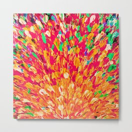 NEON SPLASH - WOW Intense Dash of Cheerful Color, Bold Water Waves Nature Lovers Modern Abstract  Metal Print