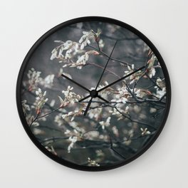 Wild Cherry Blossom Wall Clock