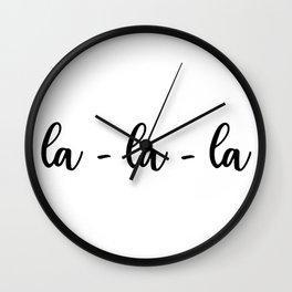 la-la-la Wall Clock