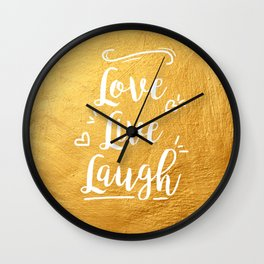 Love Live Laugh Wall Clock