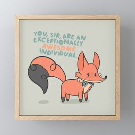 Awesome Individual Fox Framed Mini Art Print