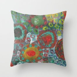 Mexican Flare Throw Pillow