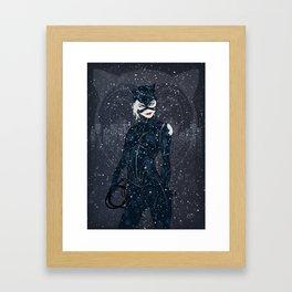 ME-OW. Catwoman Returns Framed Art Print