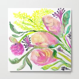 Conceited Floral Metal Print