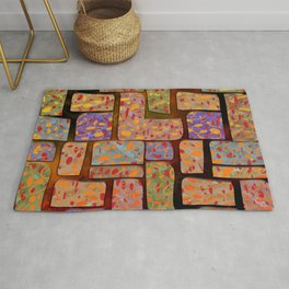 Colored Squares and Rectangles Dcor Design Rug