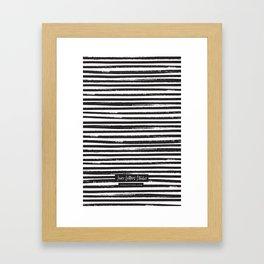 Painted Stripes Framed Art Print