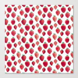 strawberry field pixels Canvas Print