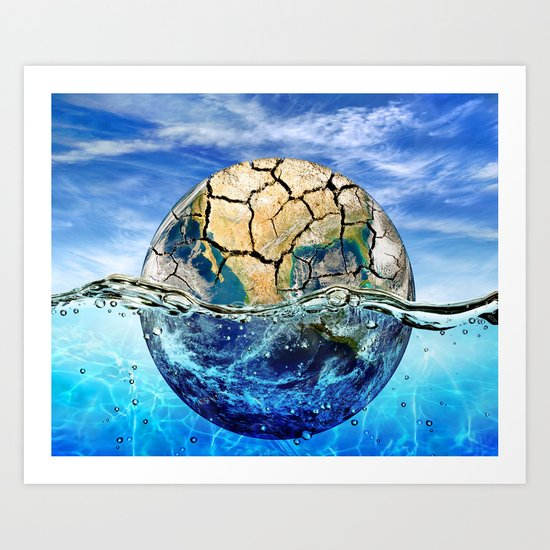 Global Warm Art Print