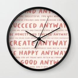 Anyway #MotherTeresa Wall Clock