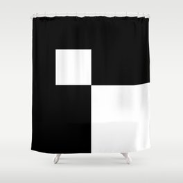 Black and White Color Block #2 Shower Curtain