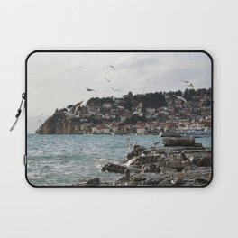 the old pier of Ohrid Laptop Sleeve