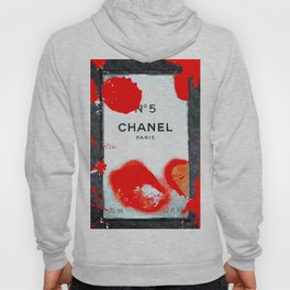 No 5 Red Splash Hoody