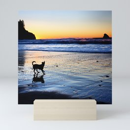 Dog Beach Mini Art Print