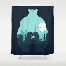 Welcome To Monsters, Inc. Shower Curtain