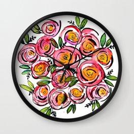 Rosie Posies Wall Clock