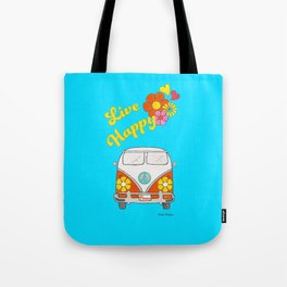 Live Happy Van Tote Bag