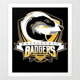 Hufflepuff Badgers Art Print