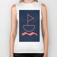 sail Biker Tanks featuring sail by gzm_guvenc