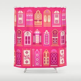 Moroccan Doors – Pink Palette Shower Curtain