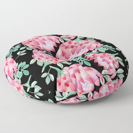 Watercolor Protea Floor Pillow