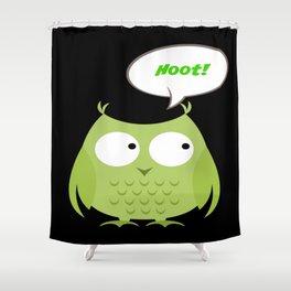 Owl Cartoon - Hoot Shower Curtain