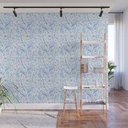 Mermaid Toile - Blue Wall Mural