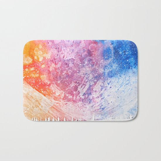 Abstract Acrylic Mountain Bath Mat