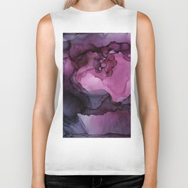 Abstract Ink Painting Ethereal Flowing Watercolor Nebula Biker Tank