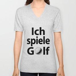 Ich spiele Golf Unisex V-Neck