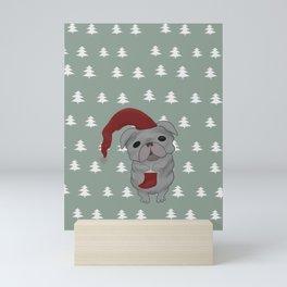 Christmas dog pug Mini Art Print