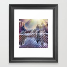 Winter Sun Rays Abstract Nature Framed Art Print