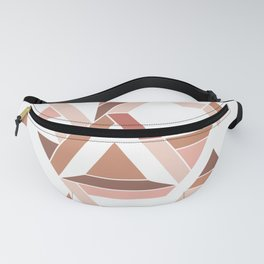 Geometric pattern - Nude Tiles Fanny Pack