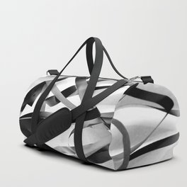 Black paper stripes Duffle Bag