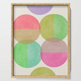 Spring Circles - Pastels Serving Tray