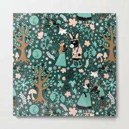 A Midsummer Night's Dream Green Metal Print