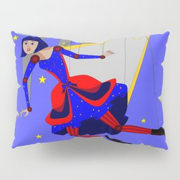 Lady Puppet, Steampunk Style Pillow Sham