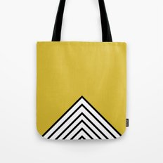 MUSTARD BLACK AND WHITE STRIPES Tote Bag