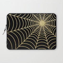 Spiderweb | Gold Glitter Laptop Sleeve